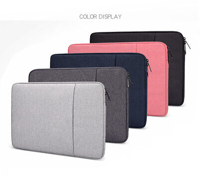 Laptop Case Sleeve Bag Carry Case 2 Pockets For Apple MacBook Air Pro 13 15 Inch • 11.95£