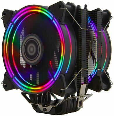 Twin RGB 120mm Fan CPU Cooler 6 Heatpipes  Aluminium Alloy Block Cooling By IONZ • 29.95£