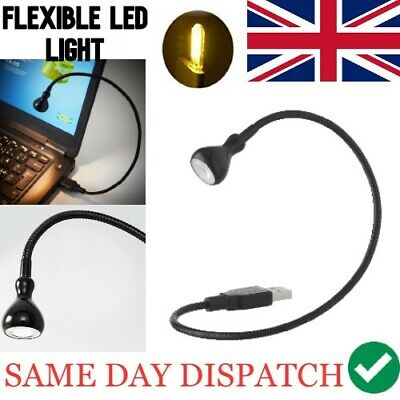 LED Ikea USB Lamp Lighting Flexible Reading Laptop Notebook Black Spotlight *UK* • 4.99£