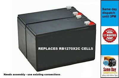 Cyberpower RB1270X2C - Replacement UPS Cells (2 CELLS) Uses Exising Leads • 26.95£