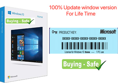 Window10 Home License Product Genuine Code 32/64 Bit(5 Second Worldwide Delivery • 5.99£