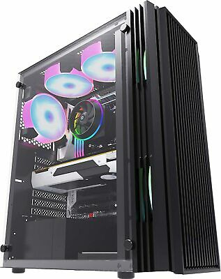Ionz Kz16  Atx  Pc Gaming Vented Tower Glass Window Case With Usb 3.0 • 25.95£
