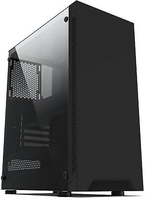 IONZ KZ08 PC COMPUTER CASE BLACK ATX GAMING MID TOWER TEMPERED GLASS  • 27.95£