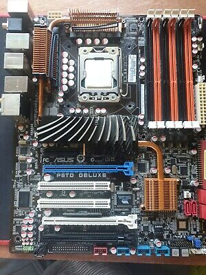 Motherboard For ASUS P6T DELUXE Rev 1 X58 DDR3 LGA1366 Mainboard With I7 920  • 45£