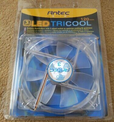 Antec TriCool 120mm Cooling Fan With 3-Speed Switch • 0.99£