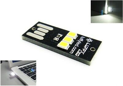 Mini Portable USB 3 SMD LED Light Super White Reading Notebook RZG UK • 0.10£