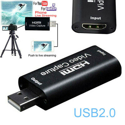 USB 2.0 HDMI Video Capture Card Recorder HD 1080P For Game Video Live Streaming • 6.49£