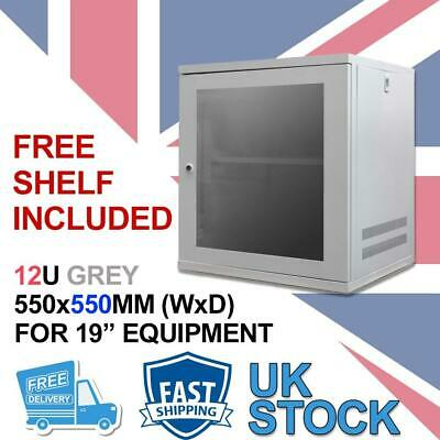 12U 19  550MM Network Cabinet Data Comms Wall Rack For Patch Panel, Switch, PDU • 105.31£