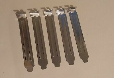 5 X PCI Slot Blanking Cover Plates For PC Computer, Full Size Bracket, New • 2.79£