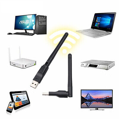150Mbps Wireless USB Wifi Adapter Dongle Dual Band 2.4GHz Network Adapt Antenna • 3.84£