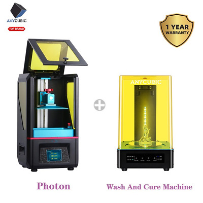 UK Anycubic LCD Photon Photocurin 3D Printer Resin + 2-in-1 Wash&Cure Machine • 319£
