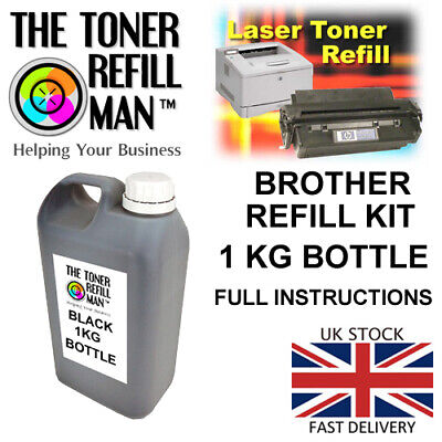 Toner Refill For Use In Brother Mono Printers, 1KG Toner Powder With Instruction • 35.30£