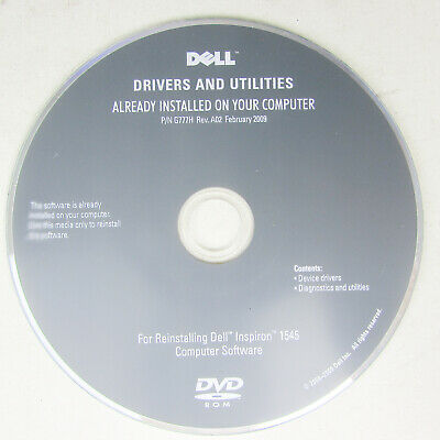 DELL Inspiron 1545 Drivers Utilities CD DVD Rom Disc PC • 7.99£