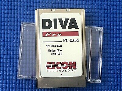 Eicon DIVA Mobile V.90 PC Card - PC Card Modem ISDN And V.90 Model 800-167 • 9.50£