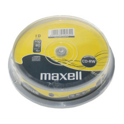 Maxell CD-RW | Re-writable Recordable Blank CD RW Discs + Sleeves 1/5/10 Pack  • 8.75£