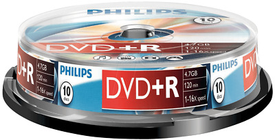 Philips DVD+R | Premium Blank Recordable DVD Discs In Sleeves 4.7GB 120 Min 16x • 5.49£