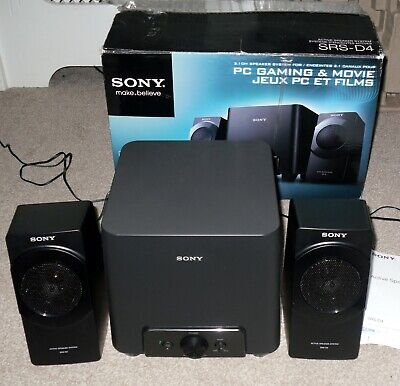 Sony SRS-D4 PC Gaming & Movie Active Speaker System • 29.99£