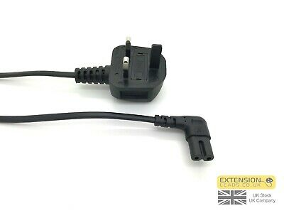 Long UK Mains Power Lead Cable For SAMSUNG LED TV Figure 8 2 Pin Angled 3.5m  • 6.99£