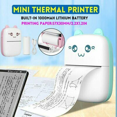 Mini Thermal Printer Photo Pocket Photo Printer Printing Wireless Portable UK • 20.99£