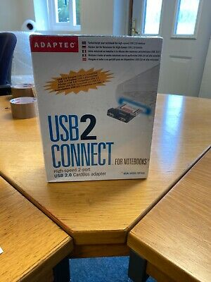 Adaptec AUA-1420 2-Port USB 2.0 CardBus Adapter Laptop Notebook PC Card NEW • 9.99£