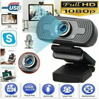 1080P Full HD USB Webcam For PC Desktop & Laptop Web Camera With Microphone • 10.18£