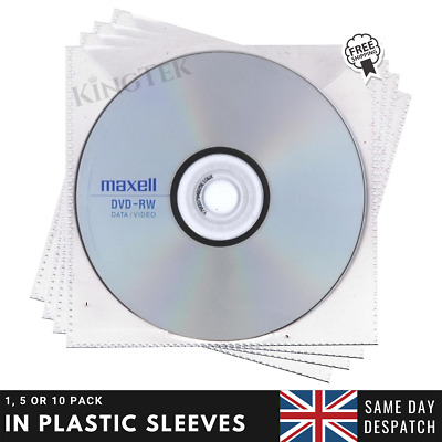 Maxell DVD-RW | Re-writable Recordable Blank DVD RW Discs + Sleeves 1/5/10 Pack  • 5.95£