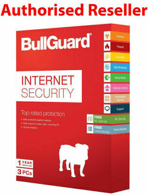 Bullguard Internet Security Antivirus 2021 12 Months License  3 PC User Device • 15.45£