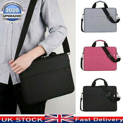 16 Inch Laptop PC Waterproof Shoulder Bag Carrying Soft Notebook Case Cover UK • 10.59£