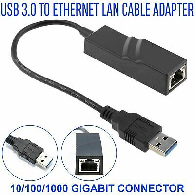 USB 3.0 To 10/100/1000 Gigabit Mbps RJ45 Ethernet Network LAN Adapter For PC UK • 6.35£