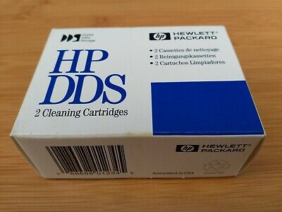 2x HP DDS Backup Cleaning Tape Cartridge X2 Brand New Sealed • 0.99£