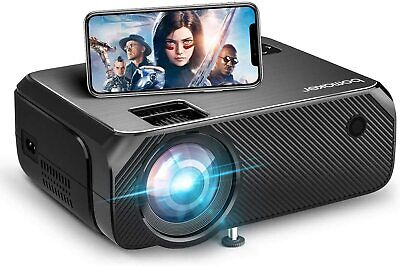 BOMAKER Wireless Projector, 6000 Lux, 300'' Display For Android / IOS / Laptops • 49.99£