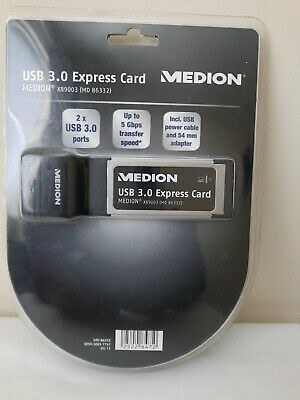 Medion USB 3.0 Express Card 5 Gbps (x89003) MD86332 • 16£