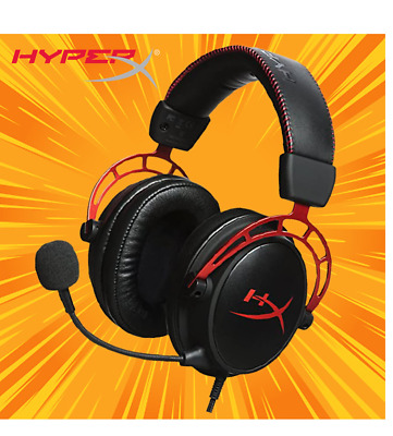 HyperX Cloud Alpha Pro Gaming Headset For PC, PS4 & Xbox One Nintendo Switch Mic • 44.99£