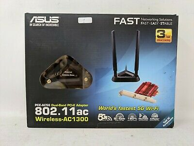 ASUS PCE-AC56 AC1300 PCI Wireless Adapter (OFFERS WELCOME) • 24.99£