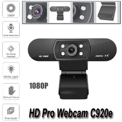 1920*1080P Web Cam Webcam Video Camera For Computer Laptop PC With Speaker UK • 28.96£
