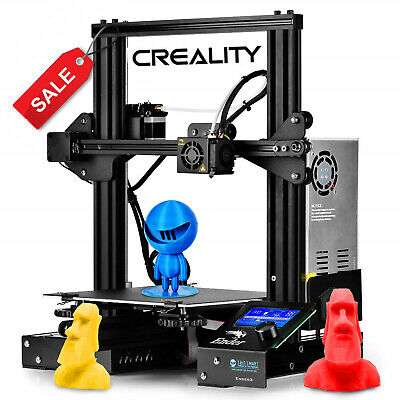 New Creality Ender 3 / 3V2/3 Pro/ 3D Printer DC 24V With Glass Bed PLA Filament • 166.99£