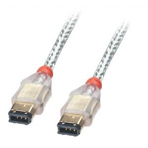 Lindy 10m Premium FireWire Cable - 6 Pin Male To 6 Pin Male, Transparent • 45£