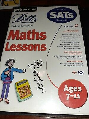 Letts Maths Lessons Ages 7-11 In PC Platform • 1.30£