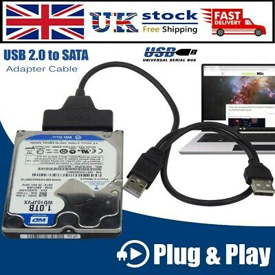 USB To SATA External HDD SSD Hard Disk Drive Adapter 2.5″ Converter Lead Cable • 4.10£
