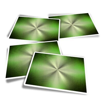 4x Rectangle Stickers - Lime Green Metallic Effect  #3984 • 3.49£