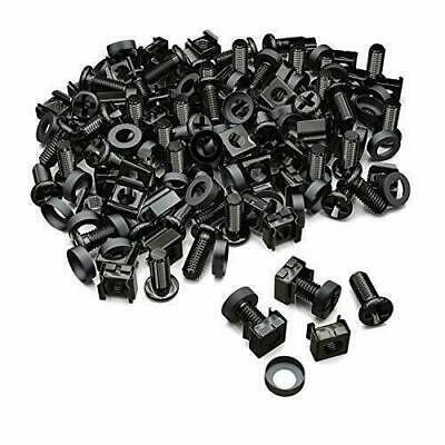 50x M6 Screw Nuts Cages For Black Steel Server Rack Network Cabinets • 21.62£