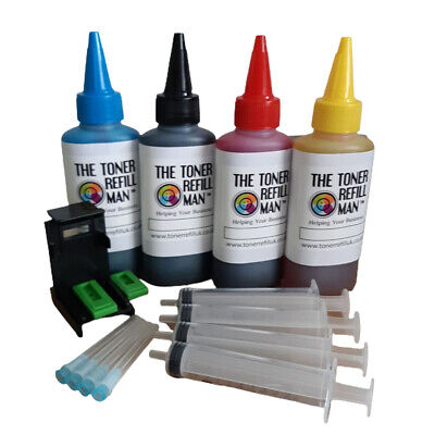 Ink Cartridge Refill Kit And Tool For Use In HP 305,HP305XL 4 X 100ml Bottles    • 18.75£