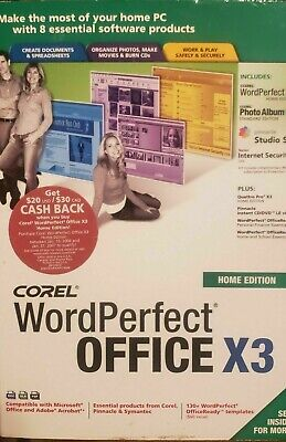 Corel WordPerfect® Office X3 Home Edition - Sealed Free Shipping • 59.99£