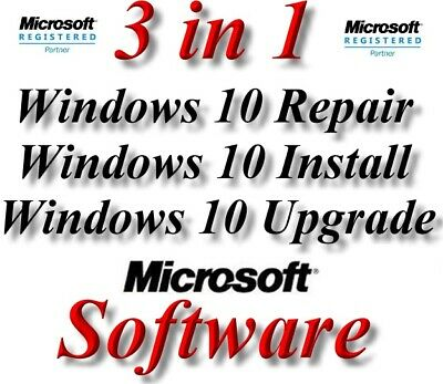 Genuine Windows 10 Install, Repair, Upgrade By Download & CD With Support  • 15£