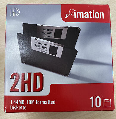 Imation 3.5 Floppy Disks X 10,  1.44 Mb New Sealed. Classic Computing Or Gaming • 10£