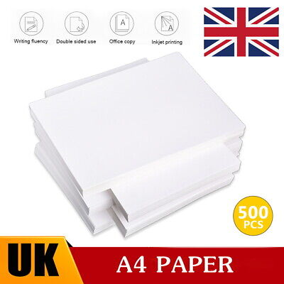 500 Sheets A4 Printing Paper General Plain White Paper  Ream Office School Copy  • 4.20£