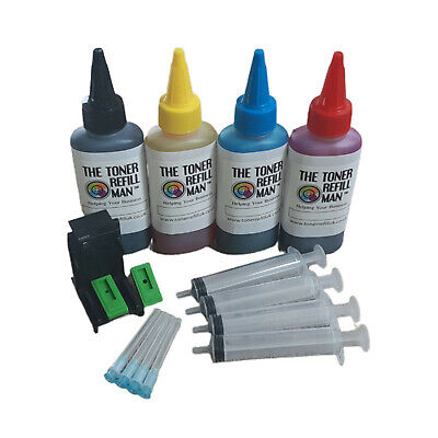 Ink Cartridge Refill Kit And Tool For Use In HP 300,HP300XL 4 X 100ml Bottles    • 9.26£