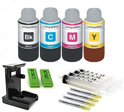 Ink Cartridge Refill Kit And Tool For Use In Canon PG-545, CL-546 4 X 100ml    • 23.75£