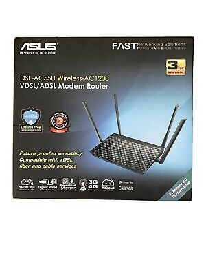 Asus DSL-AC55U Dual Band Wireless Modem Router • 45£
