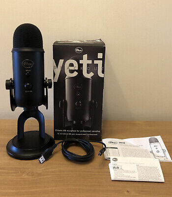 Blue Yeti Blackout Ultimate USB Microphone For Professional Recording And Gaming • 64.99£